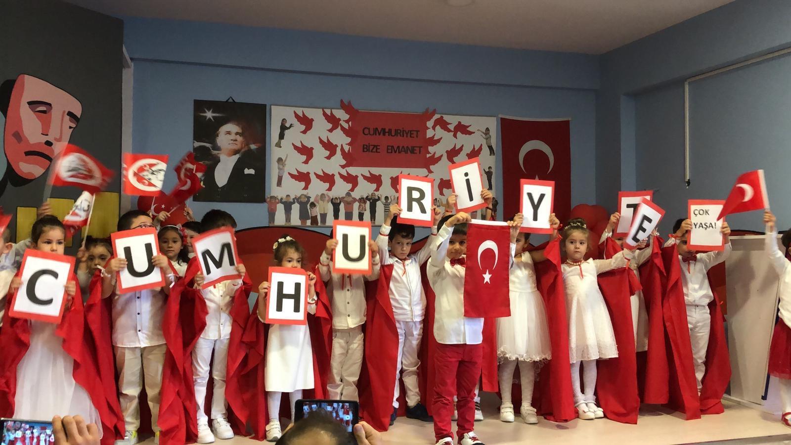 İMES OSB Sercan Sağlam Anaokulu'nda29 Ekim Cumhuriyet Bayramı Coşkuyla Kutlandı