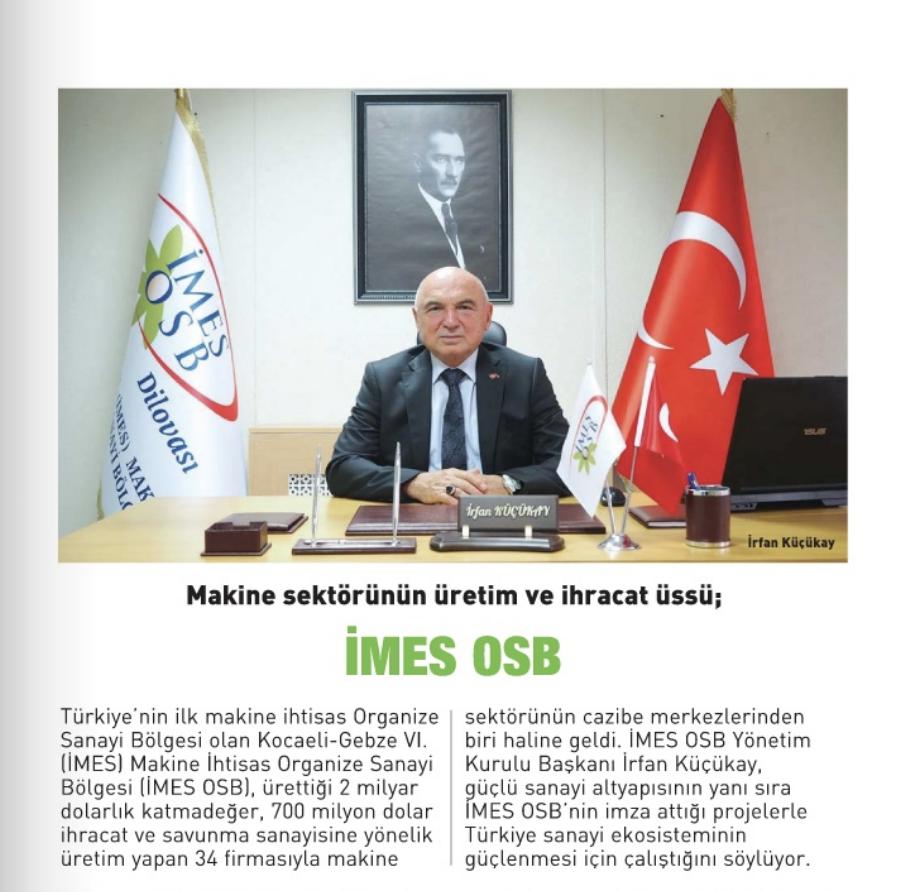 İMES OSB Yönetim Kurulu Başkanımız İrfan Küçükay'ın KobiEfor Dergisi Röportajı